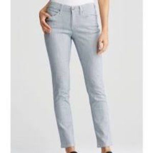 Eileen Fisher Chambray Pinstripe Blue Pants